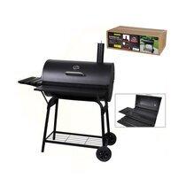 Barbecue au charbon de bois avec étagères et cheminée