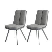 Lot de 2 chaises 47x65x86 cm anthracite et gris - GALTY