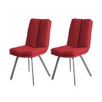 Lot de 2 chaises 47x65x86 cm rouge - GALTY