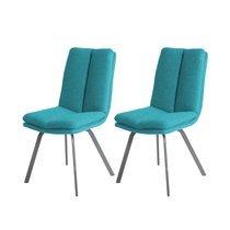 Lot de 2 chaises 47x65x86 cm turquoise - GALTY