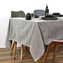 Nappe rectangulaire 250x140 cm en tissu vert olive