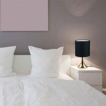 Lampe de table tactile 15x15x32,5 cm en métal noir et doré