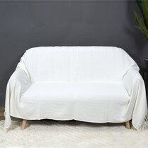 Plaid 170x250 cm en coton ivoire
