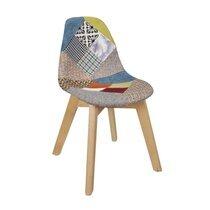 Chaise enfant 33,5x35,5x58 cm en patchwork multicolore