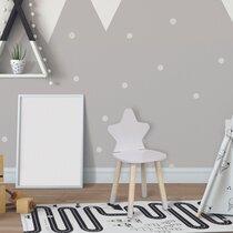 Chaise enfant étoile 28x27x54 cm blanc et naturel
