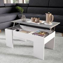 Table basse avec plateau relevable 100 cm béton