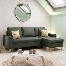 Canapé d'angle réversible avec coffre vert foncé - COLORADO