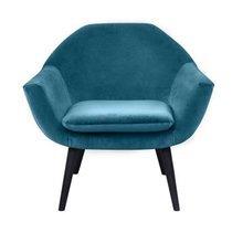 Fauteuil 73x75x69 cm en velours bleu