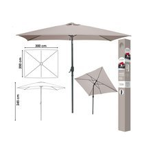 Parasol inclinable carré 245 cm taupe - PALERMO