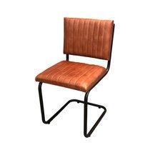 Chaise industrielle 43x53x89 cm en cuir et fer