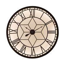 Horloge ronde décor étoile 100 cm noir et beige