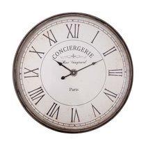 Horloge Conciergerie avec chiffres romains 61 cm grise