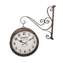 Pendule de gare Antiquités 60x14x70 cm noir vieilli