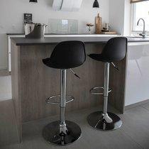 Lot de 2 chaises de bar 41x39x82-104 cm en PU noir