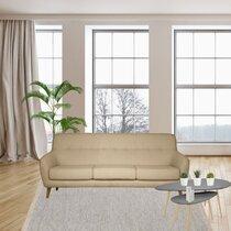Canapé 2,5 places en tissu beige - MALOUNE
