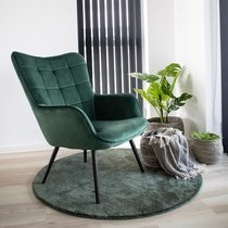Fauteuil 79x70x98 cm en tissu vert - SALTVIK