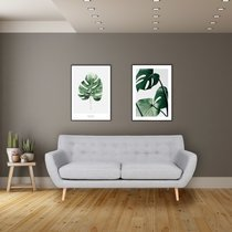 Canapé 3 places 180x80x81 cm en tissu gris clair - VOLOOS