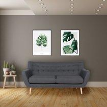 Canapé 3 places 180x80x81 cm en tissu gris foncé - VOLOOS