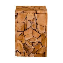 Tabouret 29x29x45,5 cm en teck naturel