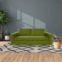 Canapé 3 places en tissu polyester pistache - SKAMBY