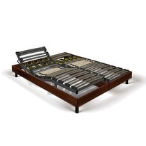 Sommier de relaxation 2x80x200 cm décor bois marron - KOPU