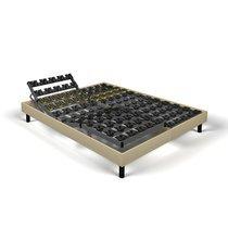 Sommier relaxation soutien plots 2x80x200 cm tissu sable - SPAY