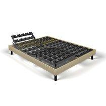 Sommier relaxation soutien plots 2x90x200 cm tissu sable - SPAY