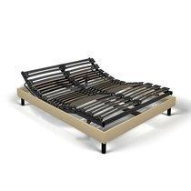 Sommier de relaxation monobloc 140x190 cm tissu sable - ZADAR