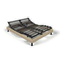Sommier de relaxation monobloc 160x200 cm tissu sable - ZADAR
