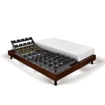 Matelas mousse+sommier de relaxation 2x80x200 cm décor marron - SPAY