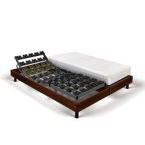 Matelas mousse + sommier de relaxation 2x90x200 cm bois marron - SPAY