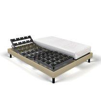 Matelas mousse + sommier de relaxation 2x90x200 cm sable - SPAY