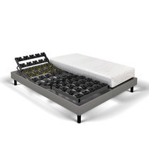 Matelas mousse + sommier de relaxation 2x90x200 cm gris clair - SPAY