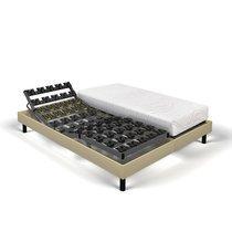 Matelas mémoire de forme + sommier relax 2x90x200 cm sable - SPAY