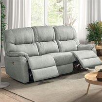 Canapé de relaxation 3 places en tissu waterproof gris clair