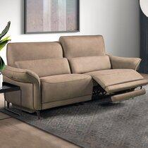 Canapé 3 places de relaxation en tissu new nobuck beige