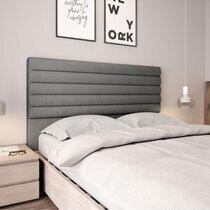 Tête de lit 140x10x120 cm en tissu gris - ERICE