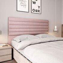 Tête de lit 170x10x120 cm en tissu vieux rose - ERICE