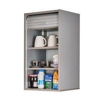 Meuble haut de cuisine à rideau 40x35x72 cm gris - COOK