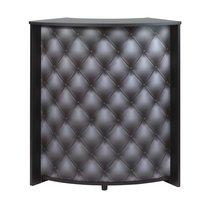 Bar 96,7x44,9x104,8 cm noir et décor capitons - KAPIK