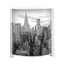 Bar 96,7x44,9x104,8 cm blanc et décor building - KAPIK