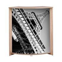 Bar 96,7x44,9x104,8 cm chêne et décor tour Eiffel - KAPIK