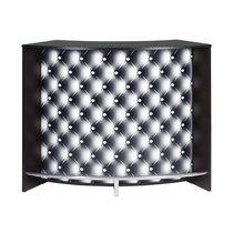 Bar 134,5x55,3x104,8 cm noir et décor capitons - KAPIK