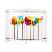 Bar 134,5x55,3x104,8 cm noir et décor ballons - KAPIK