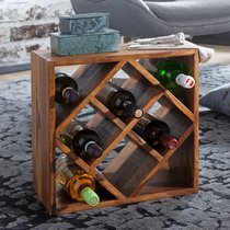 Range-bouteilles 40x25x40 cm en bois massif