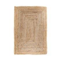Tapis 65x135 cm en jute naturelle tressée - FLORA