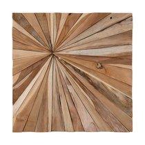 Tableau carré 59,5 cm en teck naturel