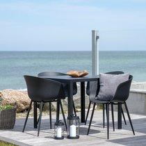 Lot de 2 chaises repas 53x54,5x79 cm noir - VASSIO