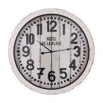 Horloge ronde 80x7x80 cm noir et blanc