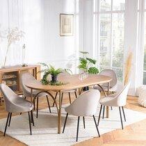 Table à manger 180x90x76,5 cm en sapin naturel - BALYSS